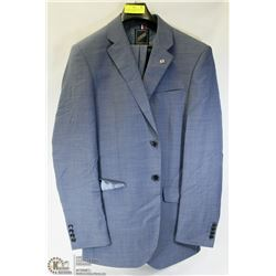 2PC DANIEL HECHTER LIGHT BLUE TWEED SUIT SIZE 40T