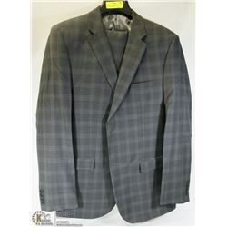 2PC JONES NEW YORK GREY PLAID SUIT 44T JACKET 38L