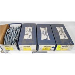 "4 BOXES OF LAG BOLTS - SIZES INCLUDE 1/2""X4-1/2"","