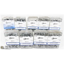 CASE OF 10X1 ROOFING SCREWS