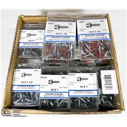 FLAT OF 10X1 & 10X1-1/2 ROOFING SCREWS