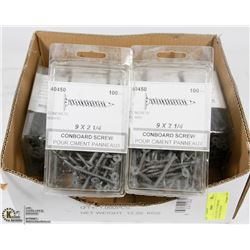 CASE OF 9X2-1/4 CONBOARD CONCRETE SCREWS