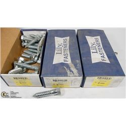 3 BOXES OF 3/4X3-1/2 LAG BOLTS