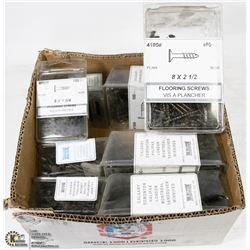 BOX OF 8X2-1/2 & 8X1-3/4 FLOORING SCREWS