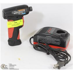 SNAP ON 7.2 VOLT CORDLESS SCREWDRIVER RED/BLK W/