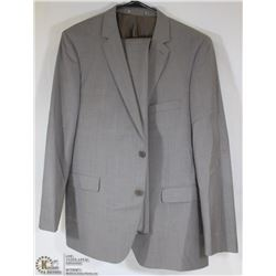 2PC DKNY GREY/TAN TWEED SUIT - JACKET SIZE 48R