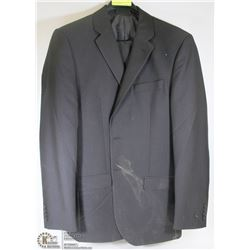 2PC BELLISSIMO BLACK/NAVY SUIT SIZE 40T PANTS 34L,