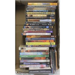 28 CHRISTIAN DVD MOVIES AND 4 MUSIC DVD'S