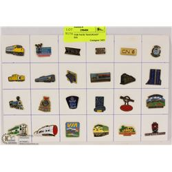 """COLLECTOR PACK """"RAILROAD"""" LAPEL PINS"""
