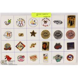 """COLLECTOR PACK """" VARIETY #3 """" LAPEL PINS"""