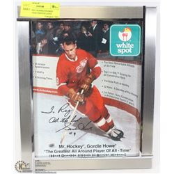 GORDIE HOWE FRAMED SIGNED PICTURE UNAUTHENTICATED
