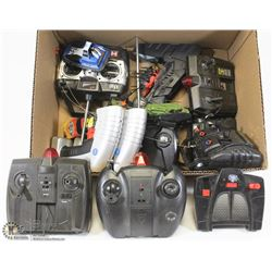 FLAT OF RC CONTROLLERS AND 4 RC UNITS