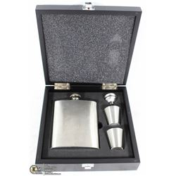 FLASK BOX SET IN CASE ENGRAVED ELEGANTLY WASTED
