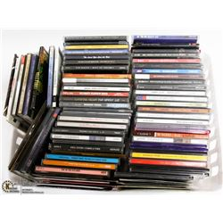 WHITE BIN W/OVER 75 MUSIC CDS INCL. OLD