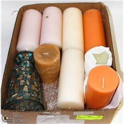BOX W/10 NEW PARTYLITE SCENTED CANDLES