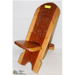 AUTHENTIC AFRICAN SOLID WOOD CARVED