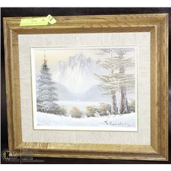 VINTAGE OIL ON CANVAS PAINTING BY J.COLLINS -