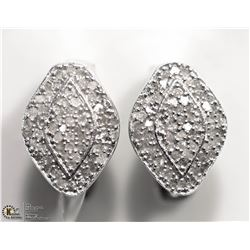 8) STERLING SILVER 118 DIAMOND EARRINGS
