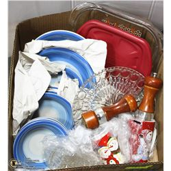 LARGE BOX W/12-PC PLATEWARE SET,