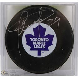 TORONTO MAPLE LEAFS FELIX POTVIN SIGNED PUCK WITH