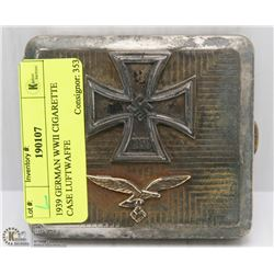 1939 GERMAN WWII CIGARETTE CASE LUFTWAFFE