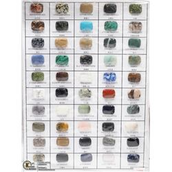 11) GENUINE SEMI PRECIOUS GEMSTONE SAMPLER