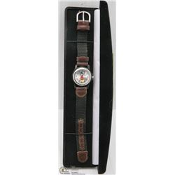 SMALL FACE MICKEY MOUSE WATCH WITH NEW BATTERY