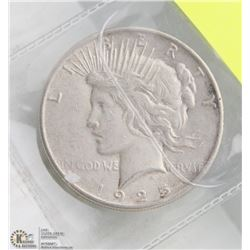 1925 US PEACE DOLLAR COIN