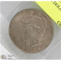 1922 US PEACE DOLLAR COIN