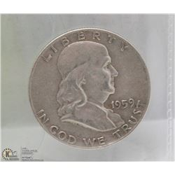 1959 US HALF DOLLAR COIN