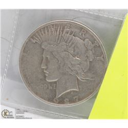 1927 US PEACE DOLLAR COIN