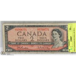 1954 CANADIAN $2 DOLLAR BILL