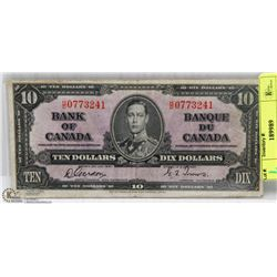 1937 CANADIAN $10 DOLLAR BILL