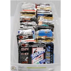 BIN WITH ESTATE COLLECTION OF HOCKEY