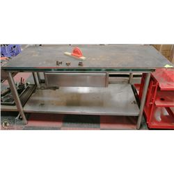 STAINLESS STEEL WORK SHOP TABLE W/ DRAWER