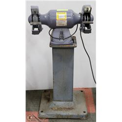 BALDOR .75HP GRINDER/BUFFER WITH STEEL STAND