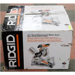 "NEW RIDGID 12"" COMPOUND MITRE SAW NEW IN BOX"