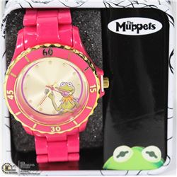 KERMIT THE FROG WATCH WITH CASE