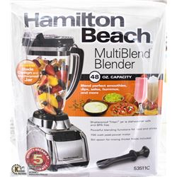 NEW HAMILTON BEACH STAINLESS STEEL 48 OZ BLENDER