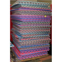 PALLET OF 65 ASSORTED 3' FOAM DUAL COLOR MATS