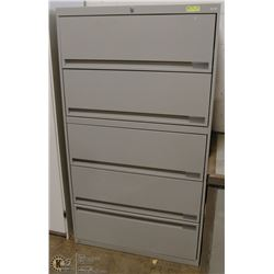 5 DRAWER FILING CABINET  WITH KEY.