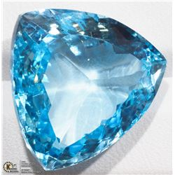 37) GENUINE LARGE BLUE TOPAZ GEMSTONE