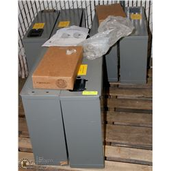 PALLET OF STEEL DRIVER DATA FILE BOXES WITH KEYS &