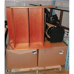 PALLET OF ESTATE GOODS, INCL SPEAKERS, CD RACK,
