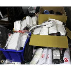 PALLET OF ASSORTED NEW TAEKWON DO UNIFORMS,