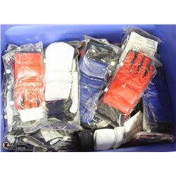 TOTE OF 29 PAIRS OF MARTIAL ARTS GLOVES