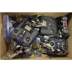 BOX OF REMOTE CONTROL HELICOPTERS