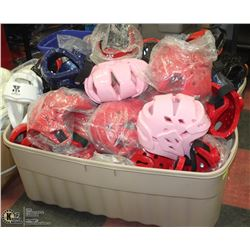 LARGE TOTE OF MARTIAL ARTS 28 HEAD PROTECTION AND