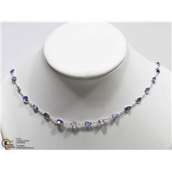 42) 10K WHITE GOLD 30 PEAR TANZANITE NECKLACE