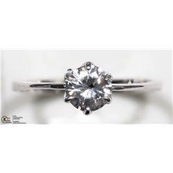 44) 14K WHITE GOLD DIAMOND SOLITAIRE RING
